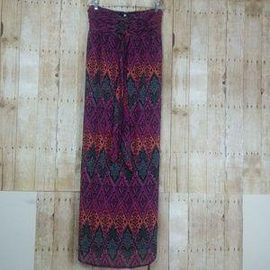 Xhilaration multi Color Strapeless Maxi Dress XL